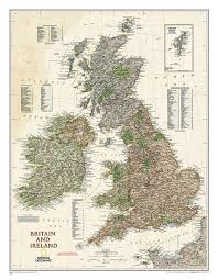National Geographic Map Buy Great Britain And Ireland Executive Sleeved By National