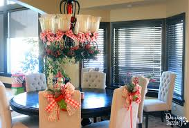 dining room christmas decor christmas dining room decor how to tie a simple bow design