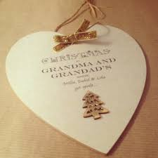 grandparent plaques grandparent personalised christmas heart