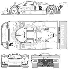 mazda car line mazda 787b blueprint download free blueprint for 3d modeling