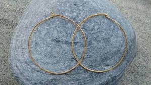 hammered hoops gold hoop earrings simple hoops hammered hoops hoop earrings