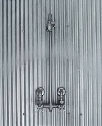 Outdoor Exposed Shower Faucet Galvanized Shower Farmhouse Bathroom Pinterest Galvanized