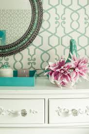 Wallpaper For Walls Teal And Pink Sophisticated Glamorous Bedroom For A Little Princess Karen