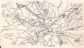 York Pennsylvania Map by Early Road Maps Of Pennsylvania