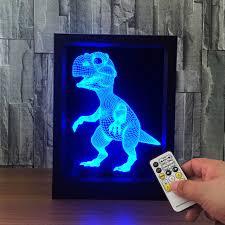 le de bureau led le dinosa 3d le photo cadre illusion le 7 changement de