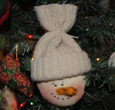 how to make a primitive snowman ornament sewing for