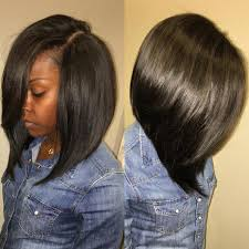 african american short bob hairstyles back of head love a deep side part pinteres