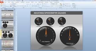 Excel Speedometer Template Powerpoint Dashboard Toolkit