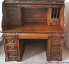 vintage desk for sale shenandoah valley vintage 1629 solid wooden oak roll top desk