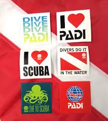 Padi Flag Padi Dive Stickers Scuba Diving Fun Equipment Gear Snorkel Divers