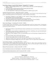 Resume For Medical Representative Job by Sales Manager Resume