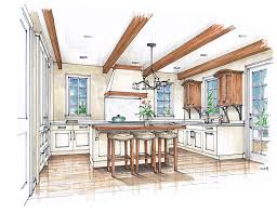 Tuscan Inspired Kitchen Hand Rendering Mick Ricereto Interior Product Design Page 2