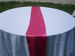 fuschia pink table cloth events with design table cloth gallery pink satin runners
