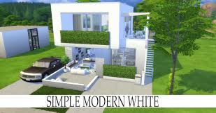 the sims 4 speed build simple modern white youtube