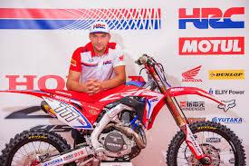honda motocross racing evgeny bobryshev to race the 2017 honda crf450rw at mxgp of the