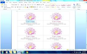 microsoft word blank business card template gallery templates