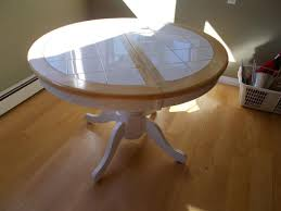 Expandable Kitchen Table - mechanically expandable kitchen table white tile and wood saanich