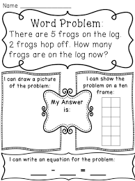 subtraction within 10 word problems worksheets to help kids see