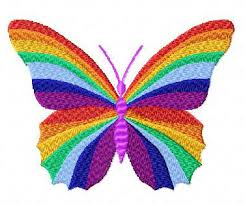 4 hobby com machine embroidery designs butterflies rainbow