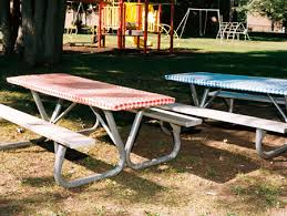 elasticized picnic table covers 8 foot long plastic elastic table covers