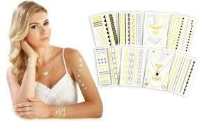 stashdeal get 58 off on metallic jewelry tattoos