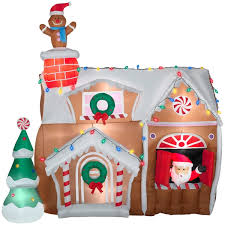 animated airblown gingerbread house