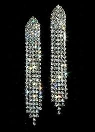rhinestone earrings rhinestone arrow earrings diamante danglers