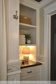 bathroom closet shelving ideas hallway bathroom remodel before after open shelves shelves