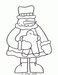 gingerbread man coloring page coloring home