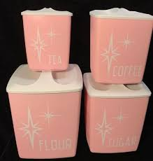 pink canisters kitchen best 25 vintage canisters ideas on vintage kitchen