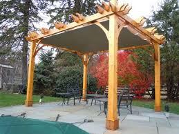 Pergolas Home Depot by Olt 10x10 Cedar Breeze Pergola Kit With Retractable Canopy