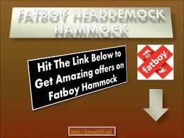 fatboy hammock fatboy headdemock hammock review youtube