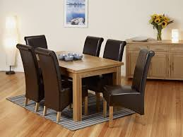 solid oak dining table and 6 chairs 58 extended dining table sets chatsworth dark wood extending dining