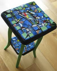 small mosaic table annie sloan paint parrot cut from a tile