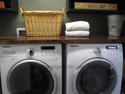 How To Hide Washer And Dryer by Wood Countertop Diy Scavenger Chic