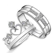 couple rings silver images 19 likes love gifts silver metal alloy size adjustable finger jpg