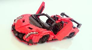 lego lamborghini car this lamborghini veneno made out of lego is counting on your support