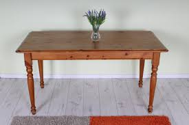 Pine Kitchen Furniture Used Solid Pine Kitchen Table Sturdy With Age Marks