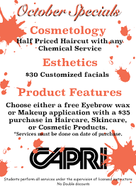 salon pricing capri college beauty in iowa