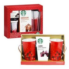 starbucks gift sets includes coffee and travel mugs only 5