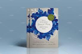 premium blue orchid wedding invite invitation templates