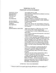 Resume For Daycare Child Care Job U0026 Career News From The Memphis Public Libraries