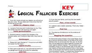 logical fallacies exercises by michael dixon teachers pay teachers