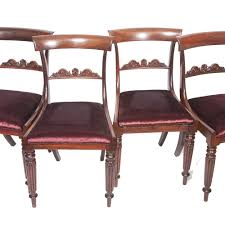 William Iv Dining Chairs Set Of 4 William Iv Rosewood Dining Chairs The Unique Seat Company