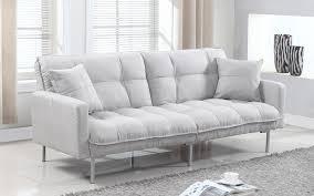 living room futon verne modern linen plush futon sofamania com