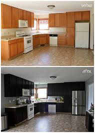 before after kitchen cabinets staining kitchen cabinets darker before and after pictures www