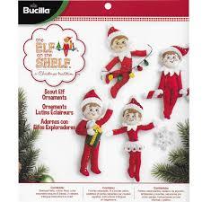 bucilla seasonal felt ornament kits the elf on the shelf