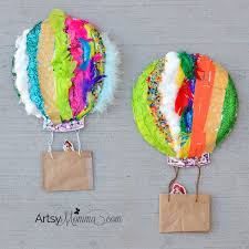 hot air balloon decorations textured hot air balloon sensory craft artsy momma