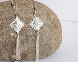silver tassel long necklace images Tassel necklaces etsy jpg
