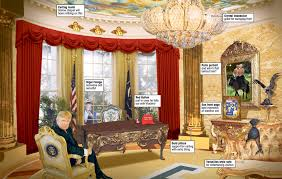 Trump Tower Interior How Donald Trump Might Redecorate Oval Office To Look Like Flashy